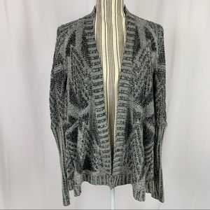 UO Sparkle & Fade Open Front Cardigan Sz Small